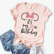 It's My Birthday Disney Birthday T-Shirt With Custom Age - Disney MatchingShirts, Disney Family Shirts, Disney Couple Shirts from The FMLY shop