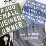 Proud Small Business Owner Sweatshirt, Military Green Small Business Owner Sweatshirt
