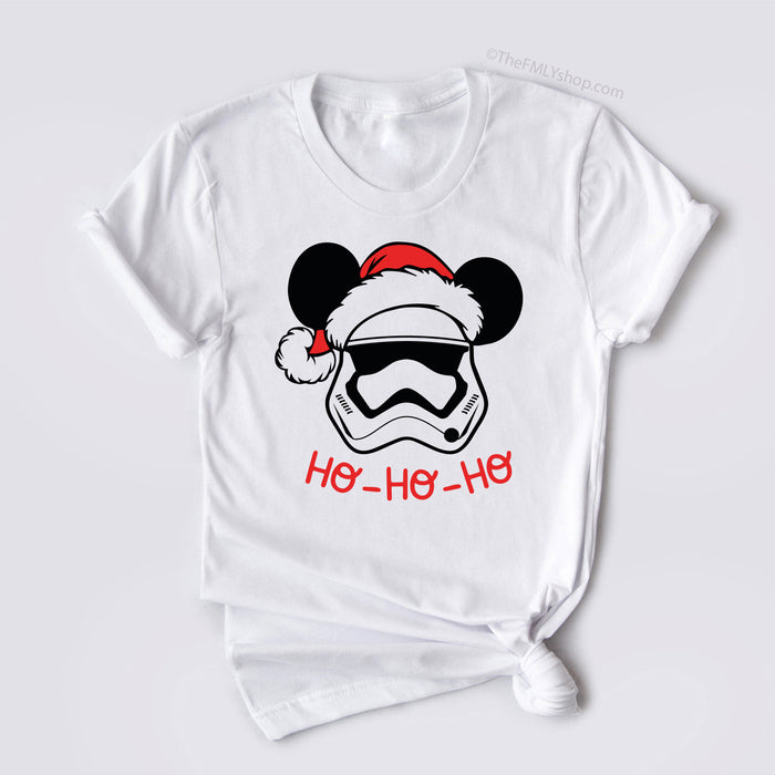 Storm Trooper Christmas Shirt, Storm Trooper in Santa Hat, Mickey Santa Hat Storm Trooper T-shirt