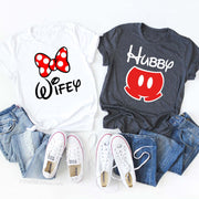 Hubby Wifey Disney Matching Shirts, Disney Honeymoon Shirts, Disneymoon Shirts, Her His Disney Matching Shirts