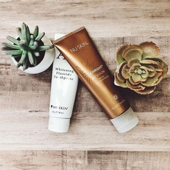 Body Duo | Insta Glow Tanner + Whitening Fluoride Toothpaste - Oral Care - Nu Skin - MC Beauty Buys