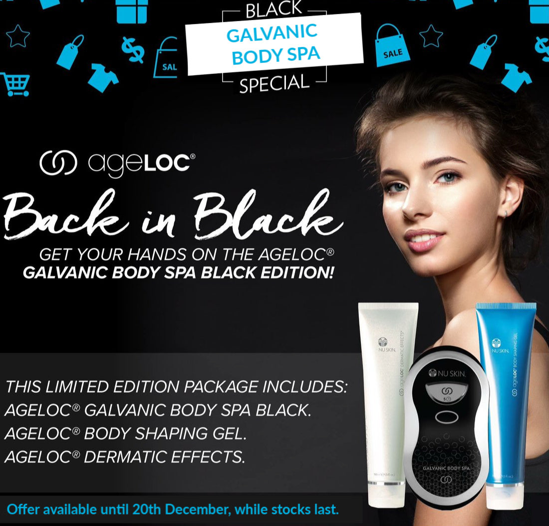 * Limited Edition * ageLOC | BLACK Galvanic Body Spa Package - PACKS - Nu Skin - MC Beauty Buys