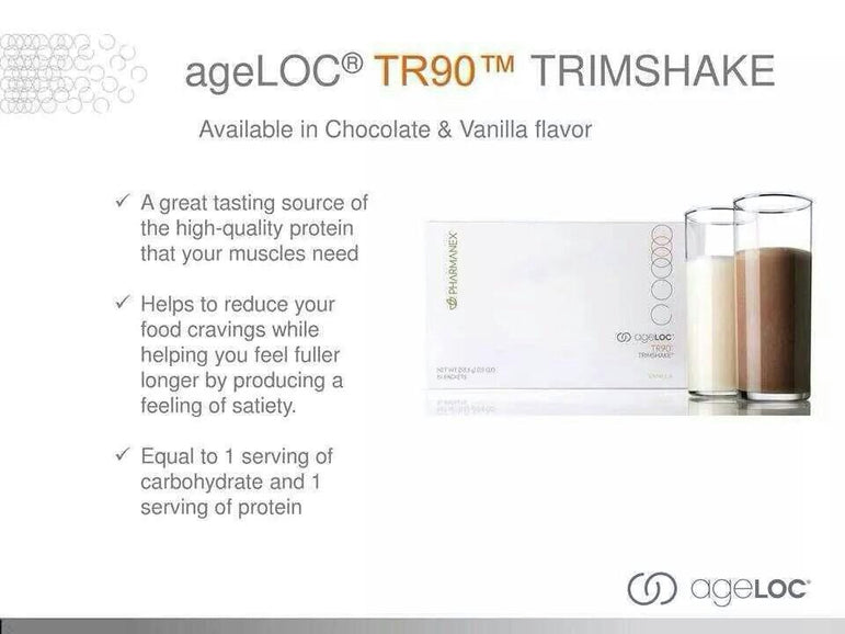 ageLOC | TR90 Trimshake - Twin Pack (Chocolate & Vanilla) - Dietary Supplements - Nu Skin - MC Beauty Buys