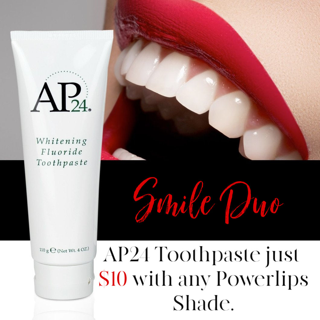 Smile Duo | Powerlips + Whitening Fluoride Toothpaste