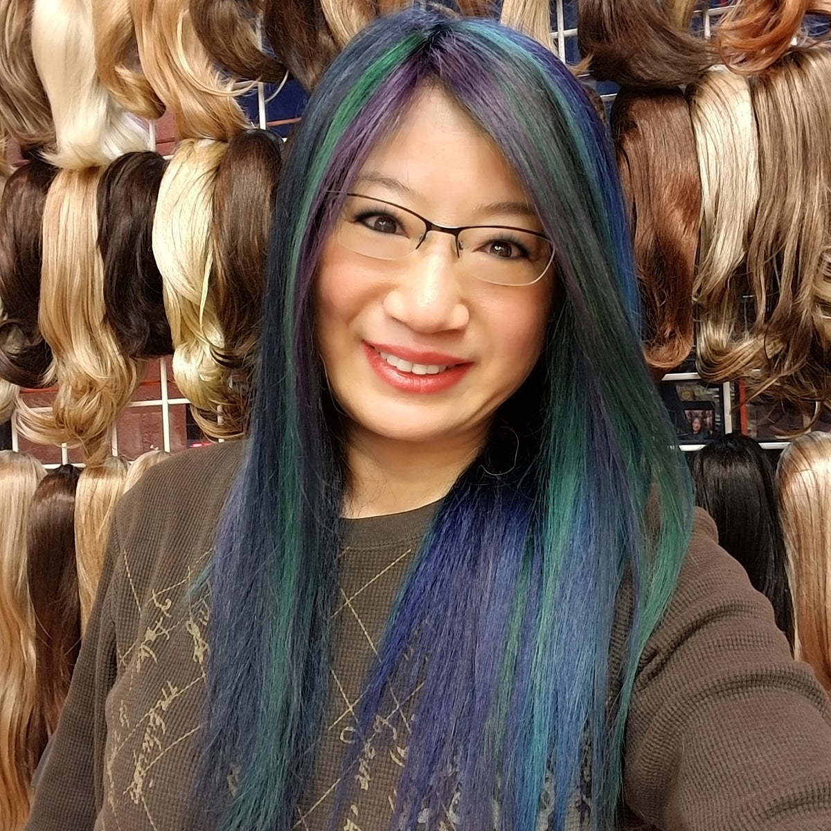 Lucy's Made Human Hair Wigs, Ocean Blue Mist
