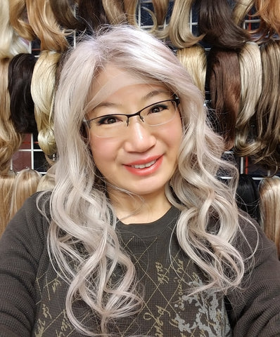 Pearl colored wig, Hand Made One