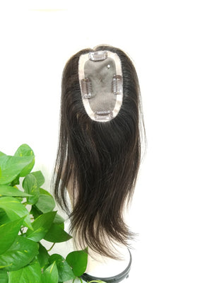 10033 Human Hair Topper - Wigs Only 4 You