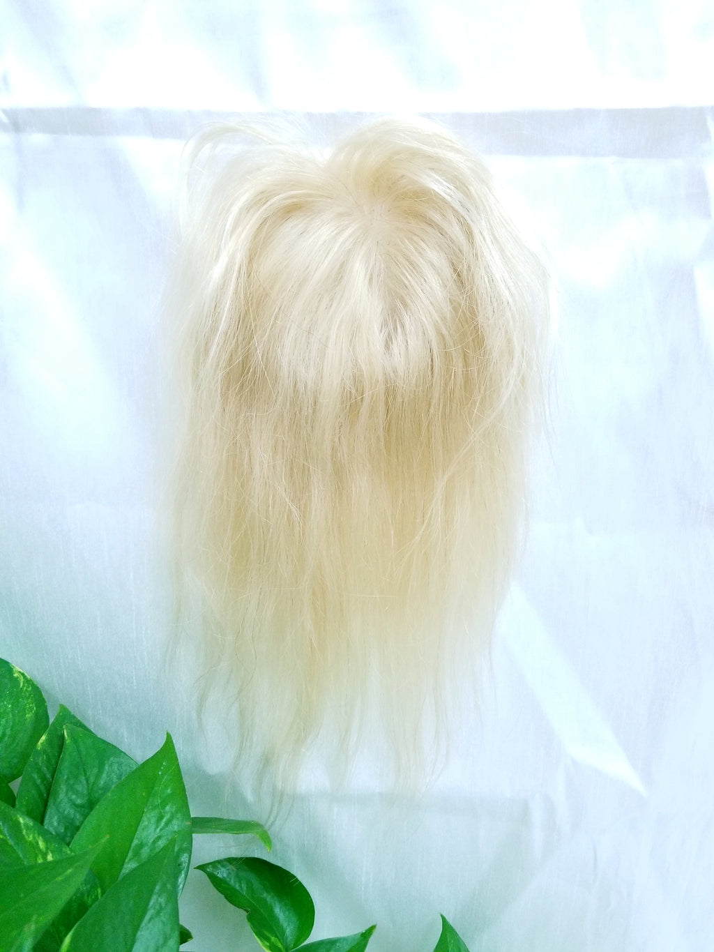 "10032, 12"", 4x4 Lace Base, Platinum Human Hair Topper - Wigs Only 4 You"