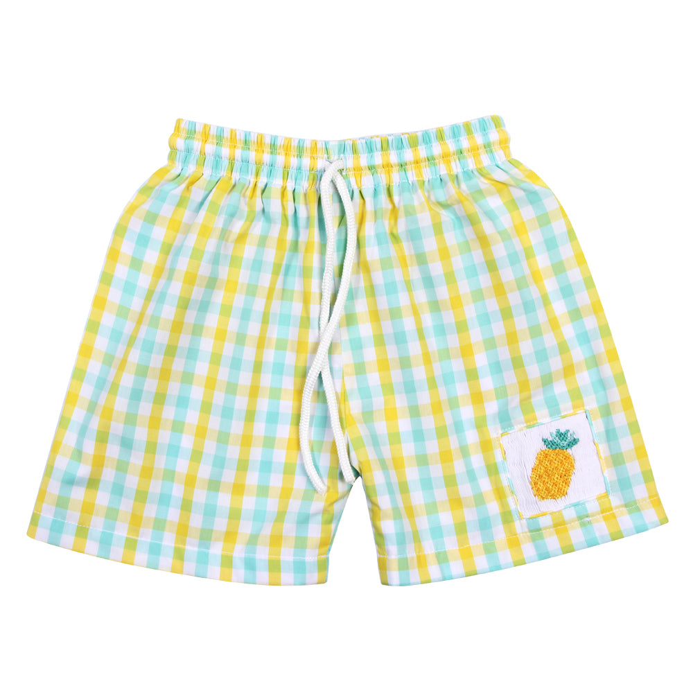 257fba640b Pineapple boy smocked swim trunks - Marry Le