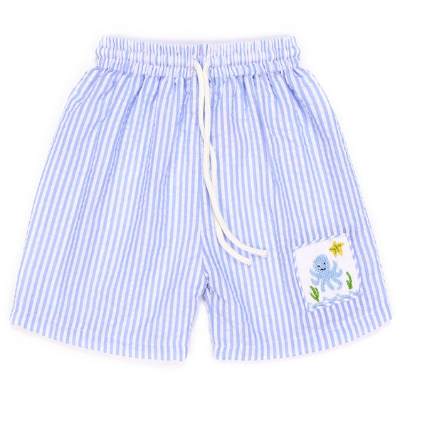 0c0e87e788 Stripe boy smocked swim trunks - Marry Le