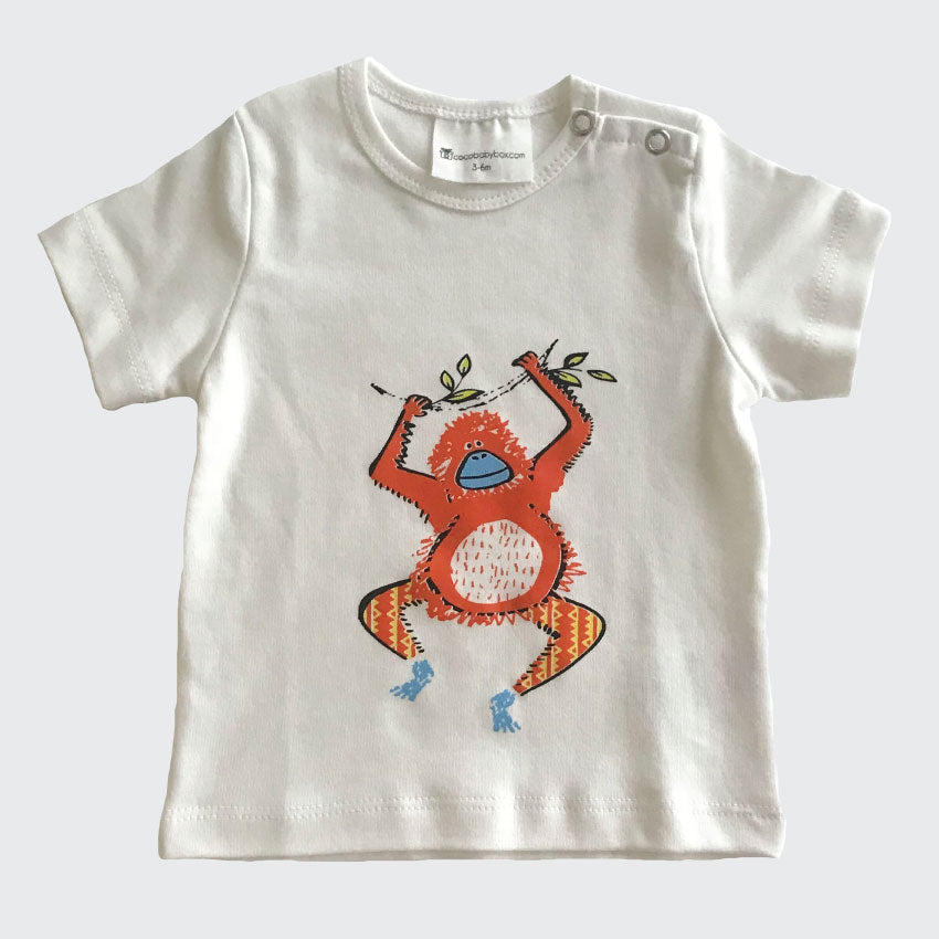 Organic Baby Clothes Monkey Graphic Tee