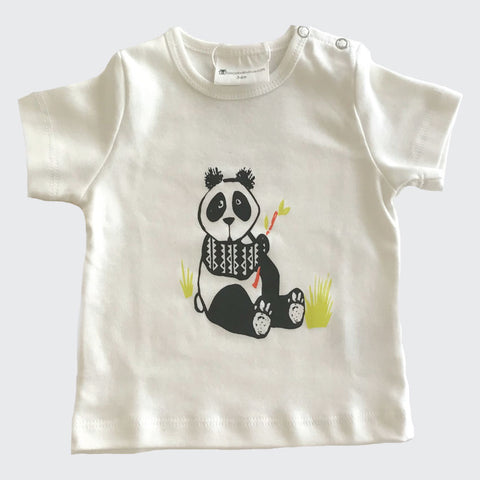Organic baby clothes | Graphic Tee | Panda Print