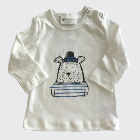 Organic baby clothes | Graphic Tee | Bear