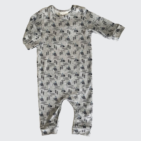 Organic baby clothes | Sleepsuit | Mountain Print