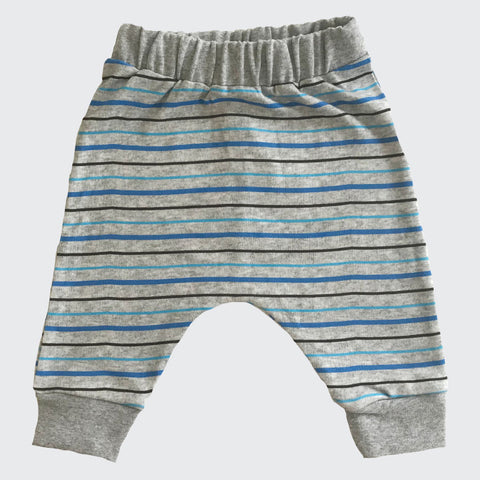 Organic baby Joggers | Blue Stripe | Order Online Today - CocoBabyBox