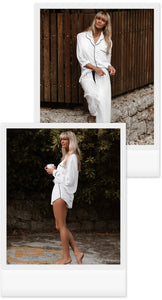 Gia Classic 3 Piece Set (Shirt+Longs+Shorts) - Available in White/Black & Black/White