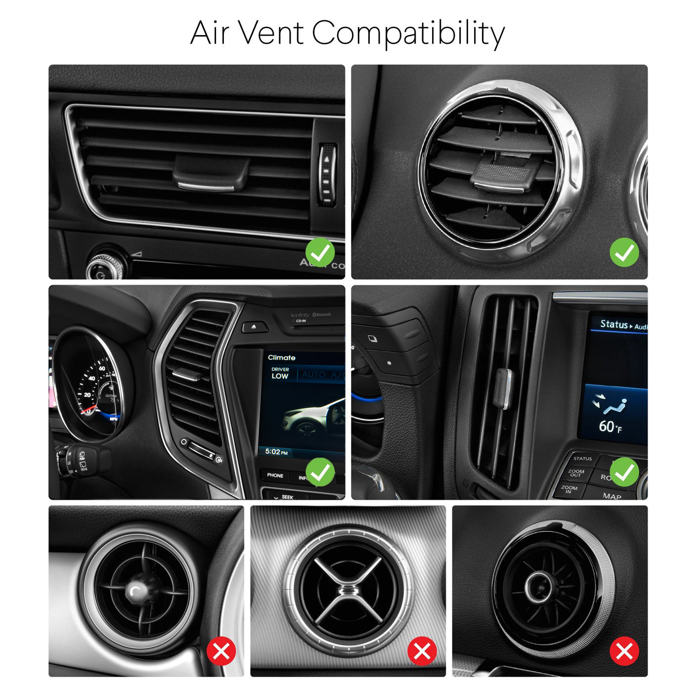 Kenu Airframe Wireless Qi-Charging Car Vent Mount iPhone Samsung Compatible Car Air Vents
