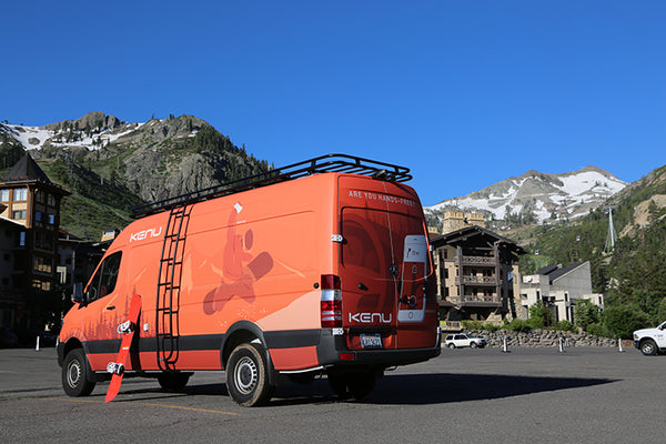 The Kenu sprinter van at Squaw Valley, Lake Tahoe