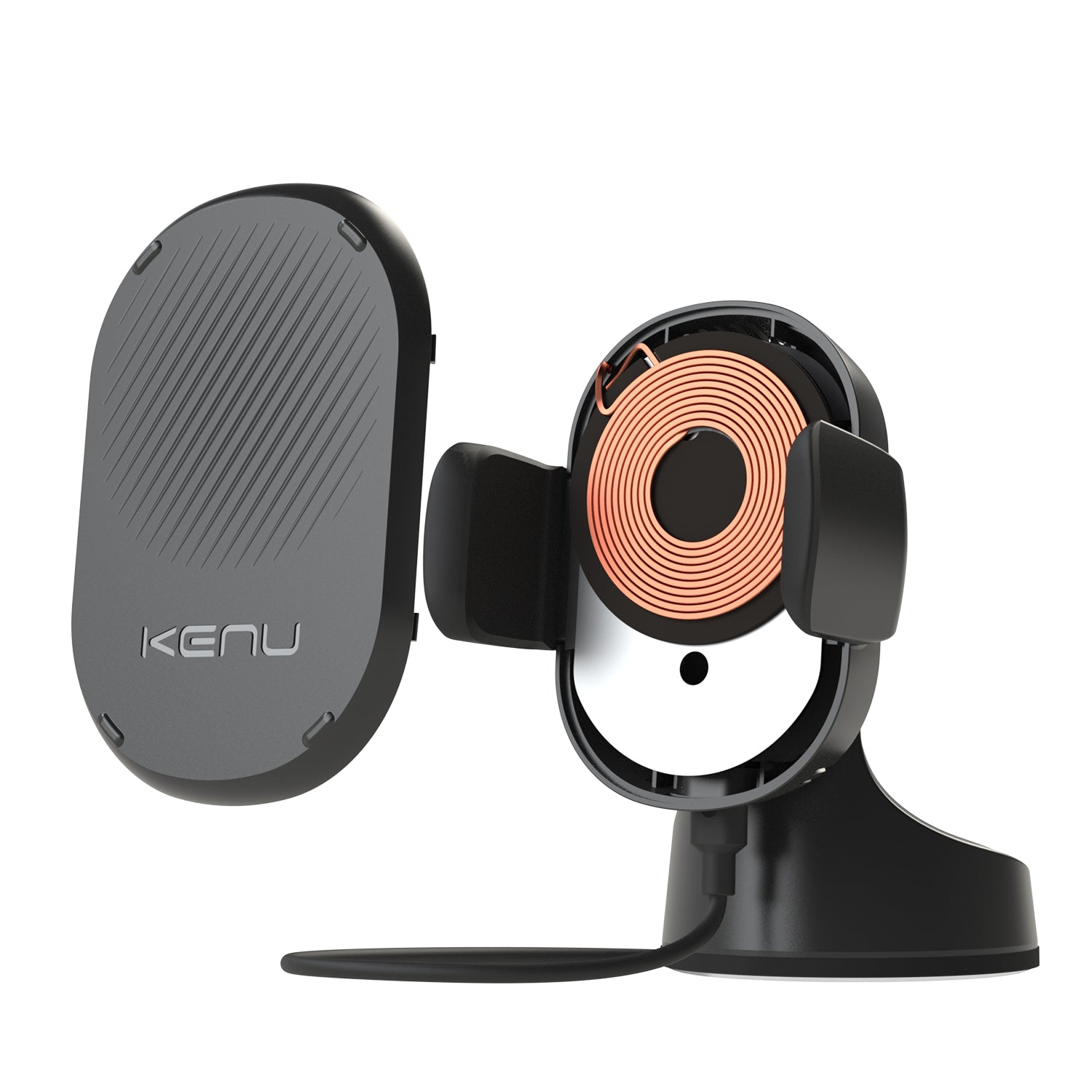 Airbase Wireless Fast Qi Wireless Charging Car Charger Phone Suction Mount Windshield Dashboard