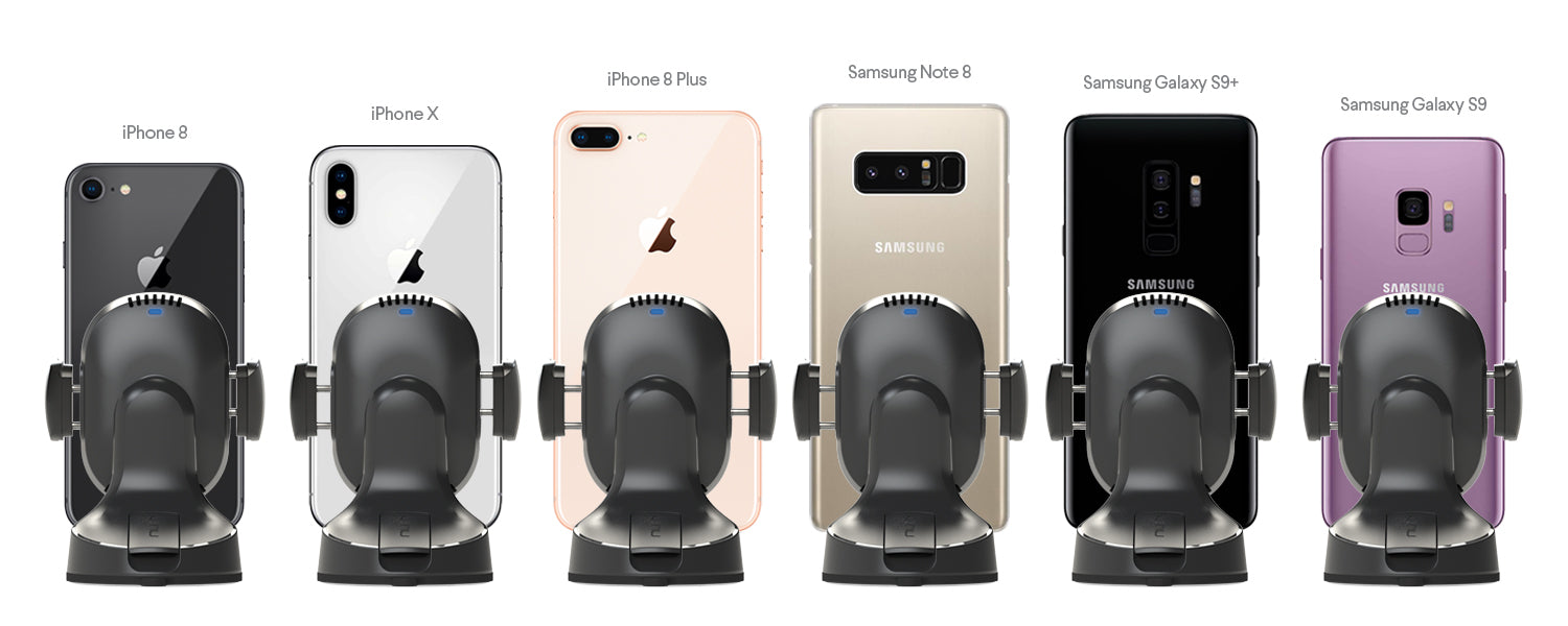 Airbase Wireless iPhone Samsung Galaxy Qi Wireless Fast Charging Car Suction Mount Dashboard Windshield