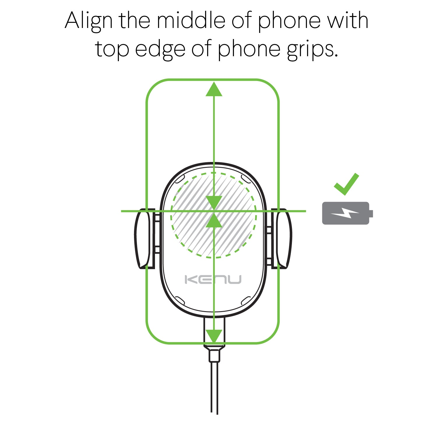 Kenu Airframe Wireless Qi-Charging Car Vent Mount iPhone Samsung Alignment