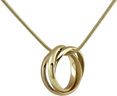 Rolling Pendant Yellow Gold w/chain