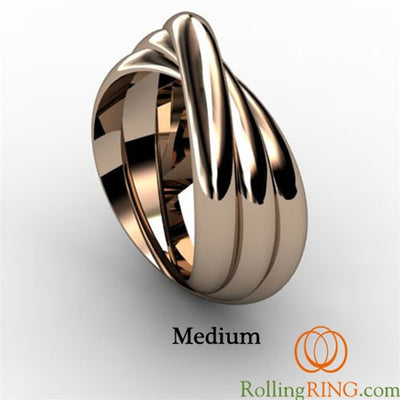 14K Solid Rose Gold Rolling Ring
