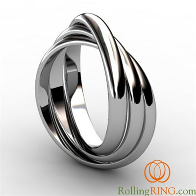 Sterling Silver 3 Band Rolling Ring