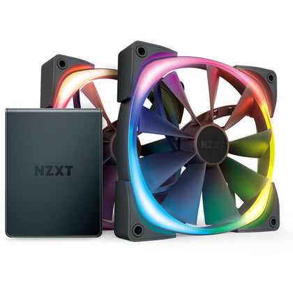 NZXT Aer RGB 2, 140 mm (Pack de 2) + HUE 2