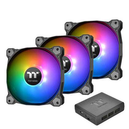 Thermaltake Pure Plus 12 LED RGB, 120 mm (Pack de 3)