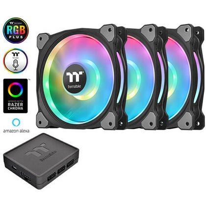 Thermaltake Riing Duo 12 RGB, 120 mm (Pack de 3)