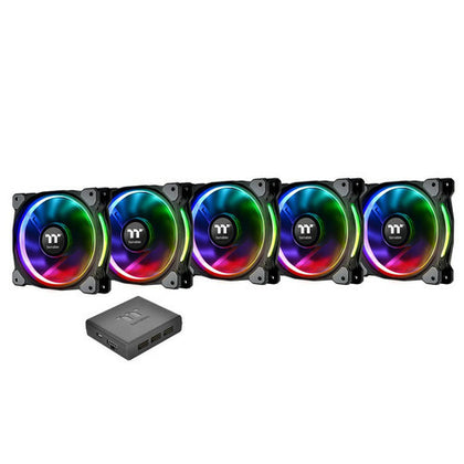 Thermaltake Riing Plus 12 Premium Edition, 120 mm (RGB) (Pack de 5)