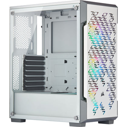 CORSAIR ICUE 220T RGB TEMPERED GLASS WHITE