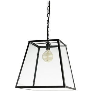 Pendant Vintage Antique Style Fixture, Matte Black Finish