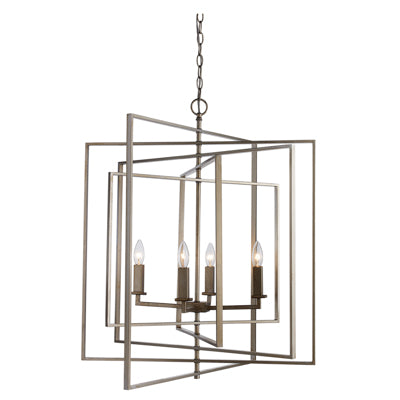 RECTANGLE FOUR LIGHT PENDANT
