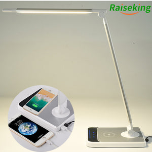 HAND SWEEP SENSOR WIRELESS CHARGE LED DESK LAMP WITH WIRELESS CHARGING FOR MOBILE PHONE