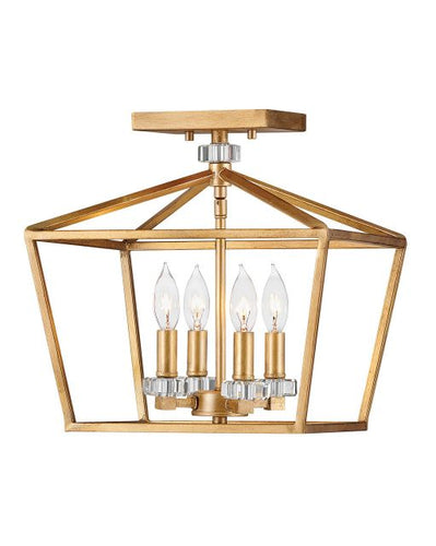 MODERN MEDIUM SEMI FLUSH MOUNT FIXTURE