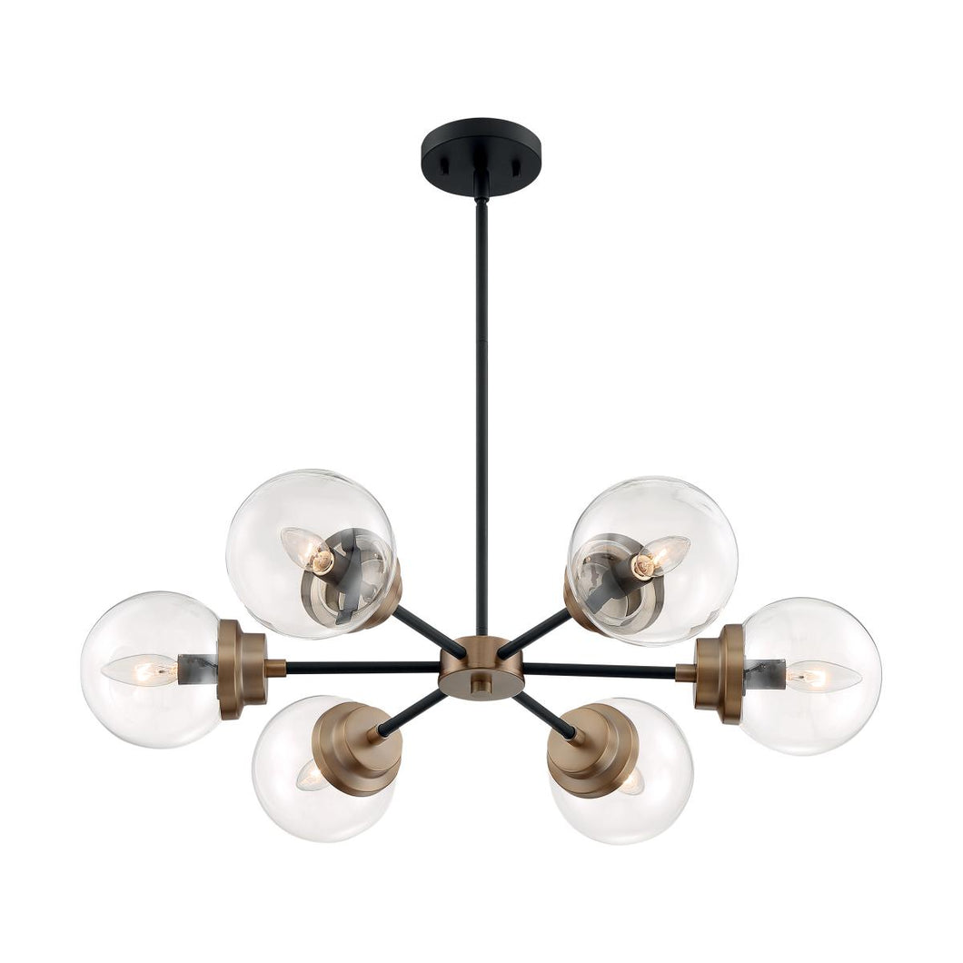 NUVO 60-7126 AXIS 6 LIGHT CHANDELIER