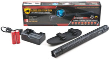 Load image into Gallery viewer, Dual Spark Stun Gun Flashlight, MAX Volts, Ultra Bright LED Bulb, Rechargeable Batteries