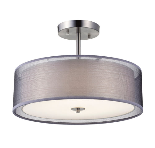 ROUND SEMI FLUSH LIGHT