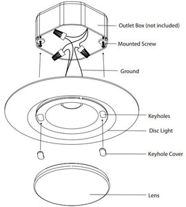 WAC Lighting I Can't Believe It's Not Recessed LED 8 inch White Flush Mount Ceiling Light