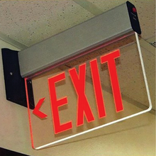 Load image into Gallery viewer, UNIVERSAL MOUNT EDGE LIT EXIT SIGN - NYC CODE APPROVED