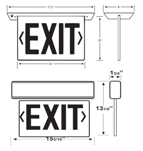 UNIVERSAL MOUNT EDGE LIT EXIT SIGN - NYC CODE APPROVED