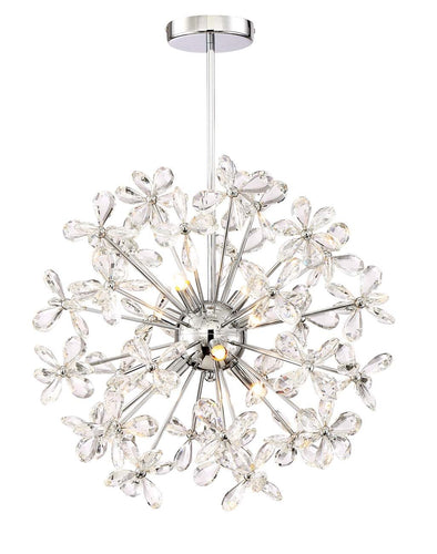 EIGHT LIGHT ADELLE CHROME CHANDELIER