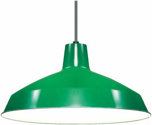 "Nuvo Lighting 1 Light 16"" Pendant - Warehouse Shade, Green - SF76-660"