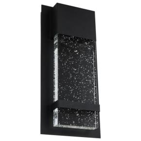 LED Wall Sconce with Rain Glass Panel