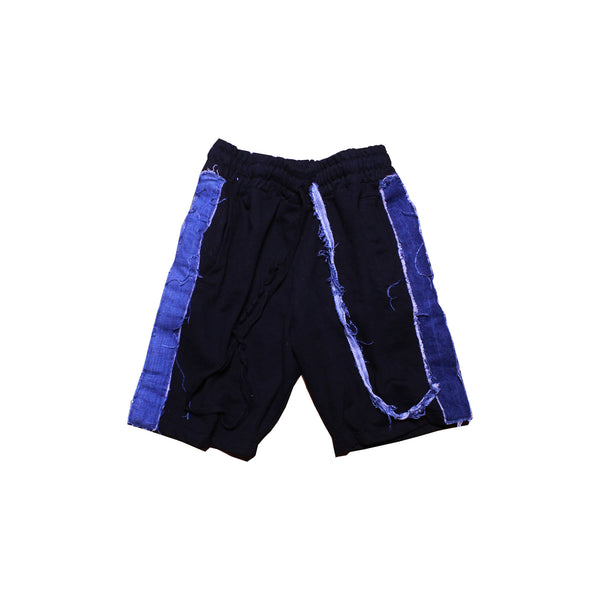 OTW Denim Striped Shorts (Black) - OTW Threads denim streetwear