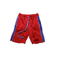 OTW Denim Striped Shorts (Red) - OTW Threads denim streetwear
