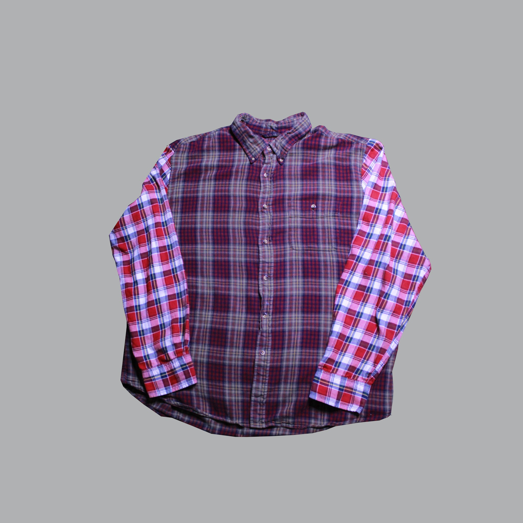 OTW Olive Red Plaid Shirt