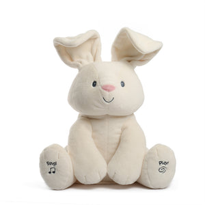 Talking Singing Peek a boo Bunny speaking Rabbit plush toys